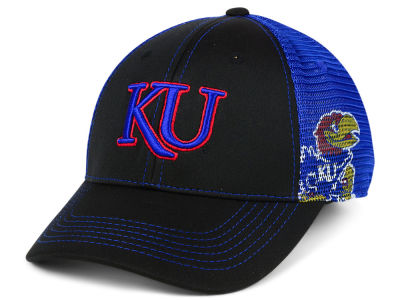 Kansas Jayhawks Top of the World NCAA Peakout Stretch Cap
