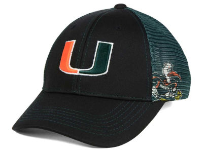 Miami Hurricanes Top of the World NCAA Peakout Stretch Cap