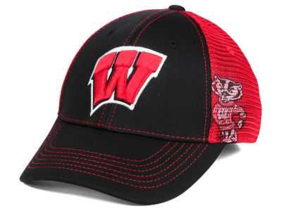 Wisconsin Badgers Top of the World NCAA Peakout Stretch Cap