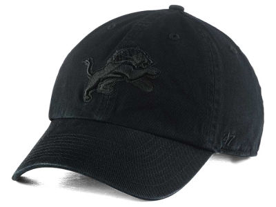 Detroit Lions '47 NFL Black CLEAN UP Cap