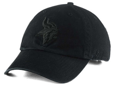 Minnesota Vikings '47 NFL Black CLEAN UP Cap