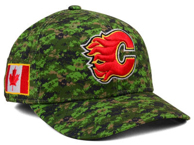 Calgary Flames adidas NHL Camo Structured Flex Cap