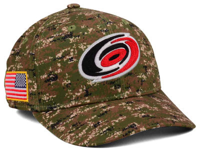 Carolina Hurricanes adidas NHL Camo Structured Flex Cap