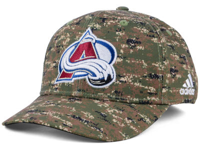 Colorado Avalanche adidas NHL Camo Structured Flex Cap