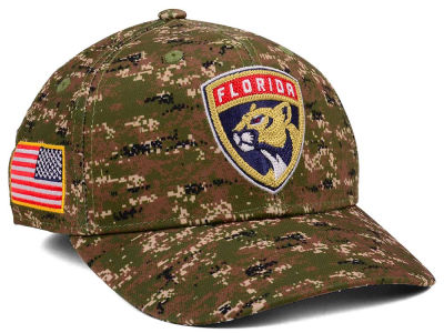 Florida Panthers adidas NHL Camo Structured Flex Cap