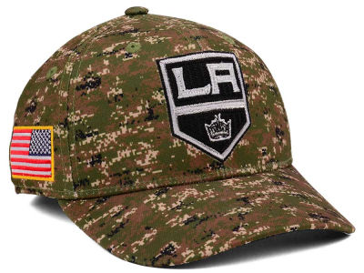 Los Angeles Kings adidas NHL Camo Structured Flex Cap