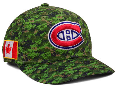 Montreal Canadiens adidas NHL Camo Structured Flex Cap