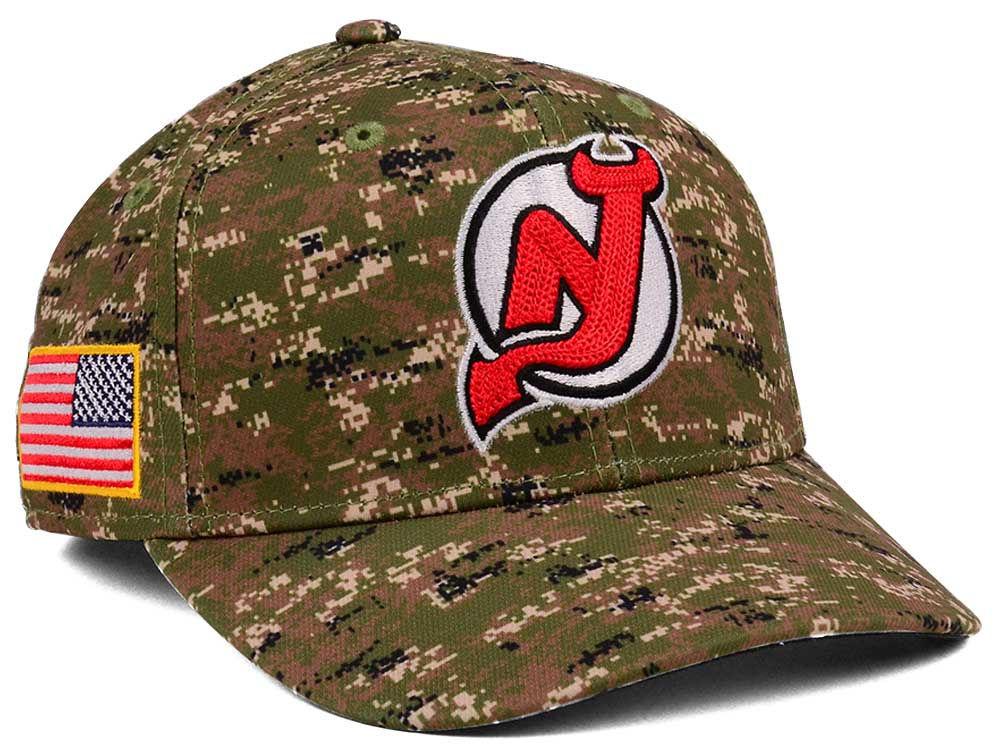 de23061bc New Jersey Devils adidas NHL Camo Structured Flex Cap
