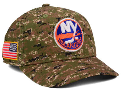 New York Islanders adidas NHL Camo Structured Flex Cap
