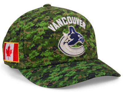 Vancouver Canucks adidas NHL Camo Structured Flex Cap