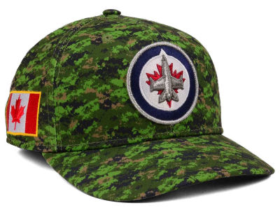 Winnipeg Jets adidas NHL Camo Structured Flex Cap