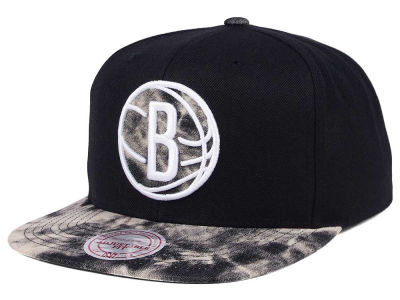 Brooklyn Nets Mitchell & Ness NBA All Color Acid Wash Snapback Cap