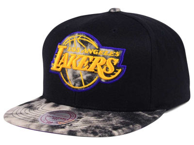 Los Angeles Lakers Mitchell & Ness NBA All Color Acid Wash Snapback Cap
