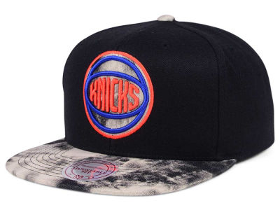 New York Knicks Mitchell & Ness NBA All Color Acid Wash Snapback Cap