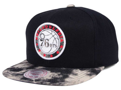 Philadelphia 76ers Mitchell & Ness NBA All Color Acid Wash Snapback Cap