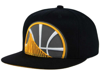 Golden State Warriors Mitchell & Ness XL Reflective Cropped Snapback Cap