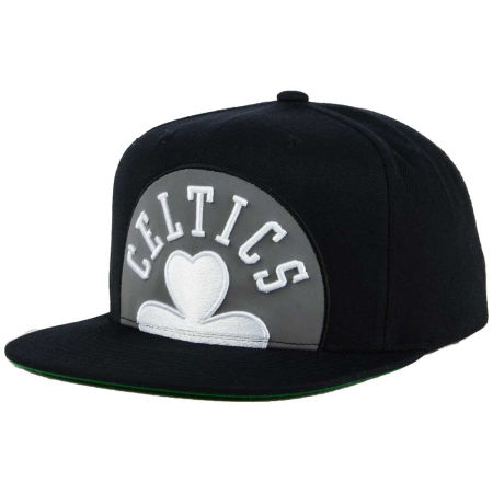 Boston Celtics Mitchell & Ness XL Reflective Cropped Snapback Cap