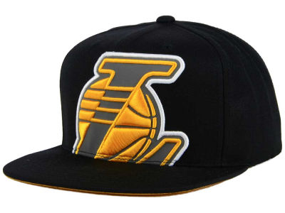 Los Angeles Lakers Mitchell & Ness XL Reflective Cropped Snapback Cap