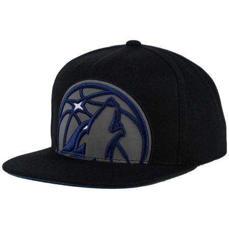 Minnesota Timberwolves Mitchell & Ness XL Reflective Cropped Snapback Cap