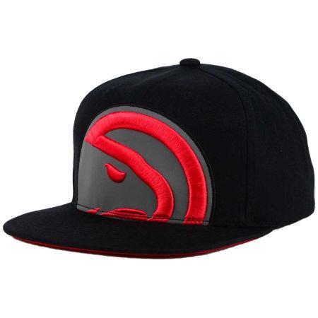 Atlanta Hawks Mitchell & Ness XL Reflective Cropped Snapback Cap