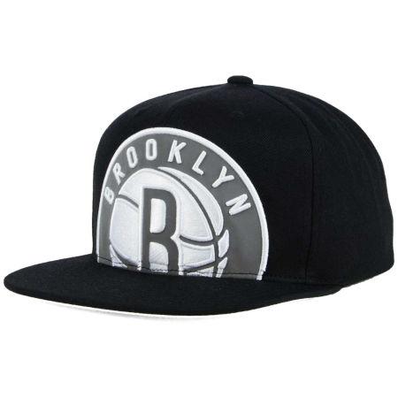 Brooklyn Nets Mitchell & Ness XL Reflective Cropped Snapback Cap