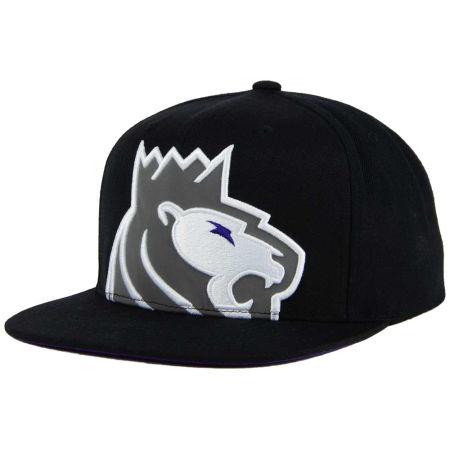 Sacramento Kings Mitchell & Ness XL Reflective Cropped Snapback Cap