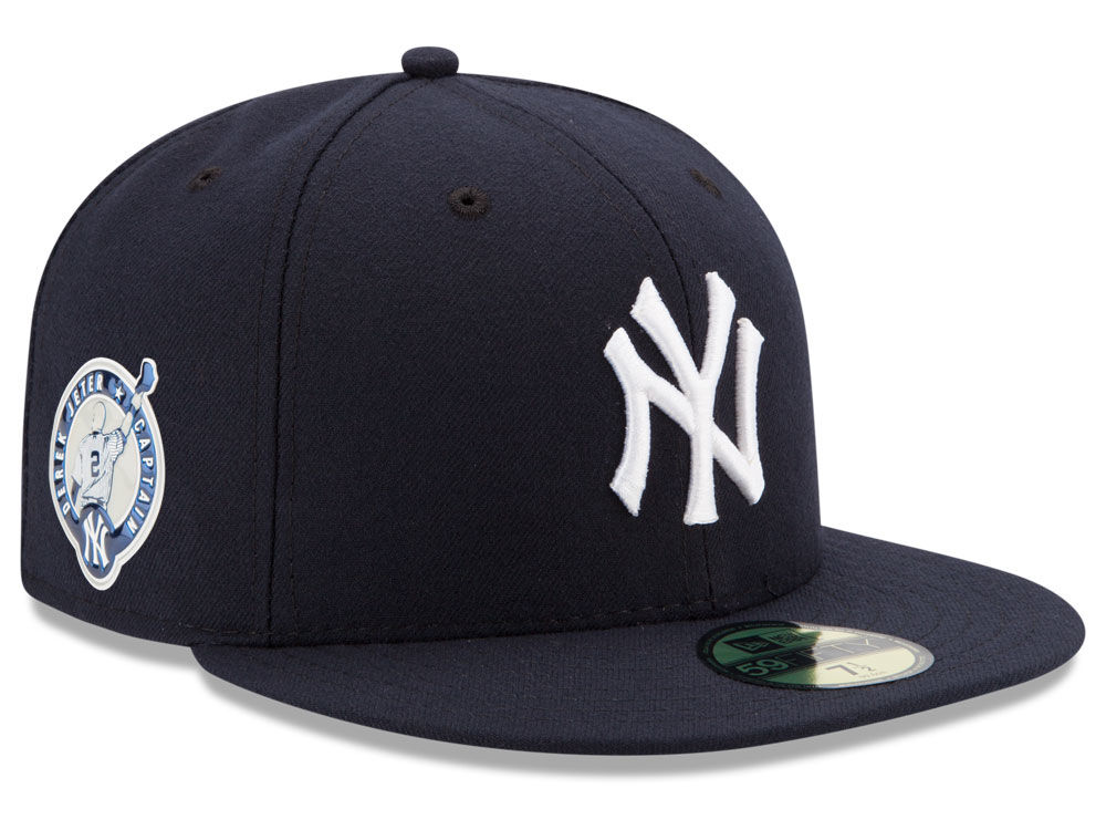 New York Yankees Derek Jeter New Era MLB Authentic Collection Jeter Patch  59FIFTY Cap  e4cc35dab26