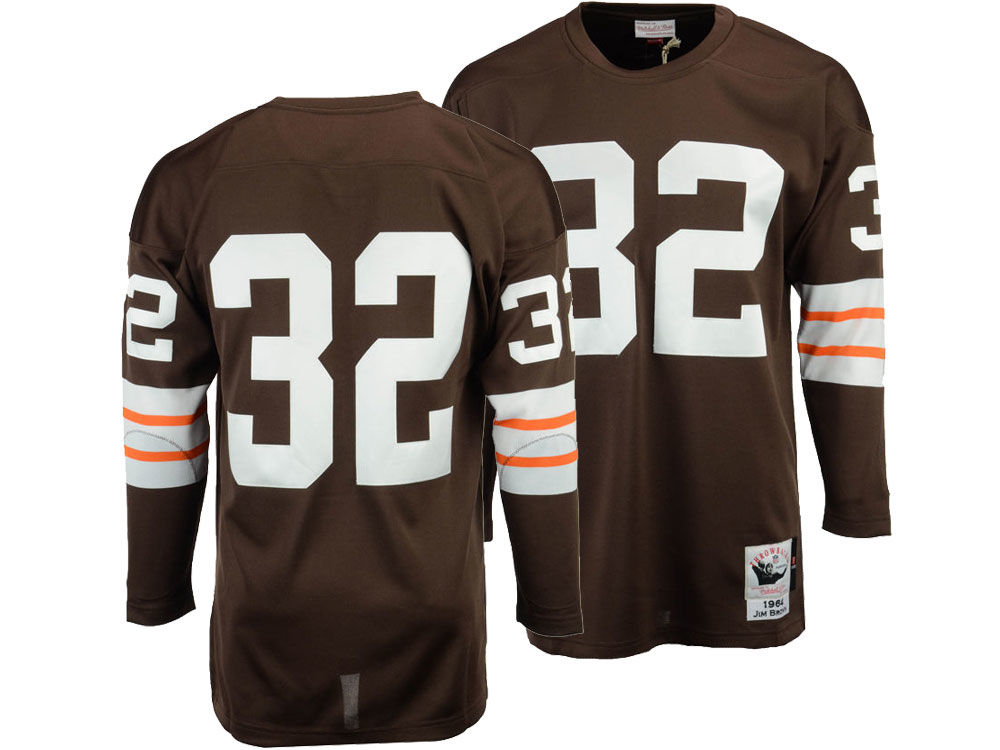 800d2c53a Cleveland Browns Jim Brown Mitchell   Ness NFL Men s Authentic Football  Jersey