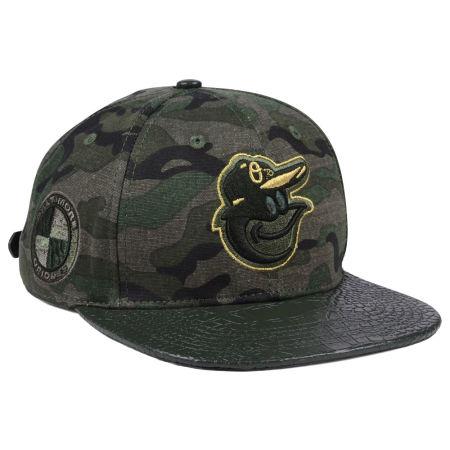 Baltimore Orioles Pro Standard MLB Camo Gold Strapback Cap