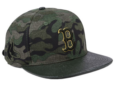 Boston Red Sox Pro Standard MLB Camo Gold Strapback Cap