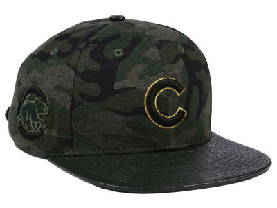 Chicago Cubs Pro Standard MLB Camo Gold Strapback Cap