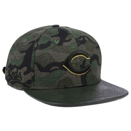 Cincinnati Reds Pro Standard MLB Camo Gold Strapback Cap
