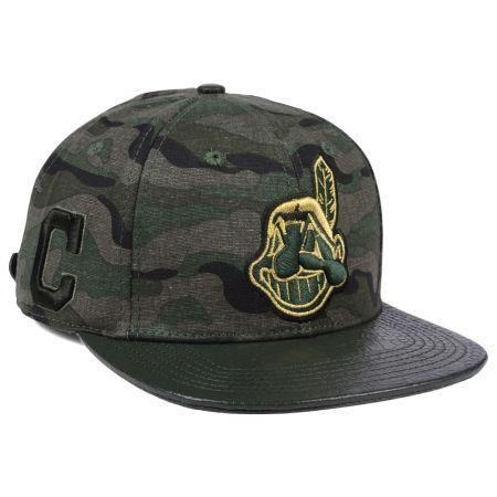 Cleveland Indians Pro Standard MLB Camo Gold Strapback Cap