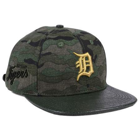 Detroit Tigers Pro Standard MLB Camo Gold Strapback Cap