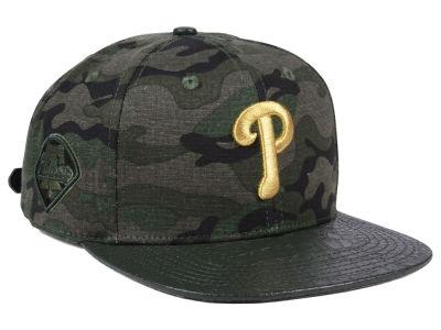 a738cbe0d9b Philadelphia Phillies Pro Standard MLB Camo Gold Strapback Cap