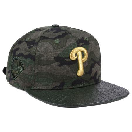 Philadelphia Phillies Pro Standard MLB Camo Gold Strapback Cap