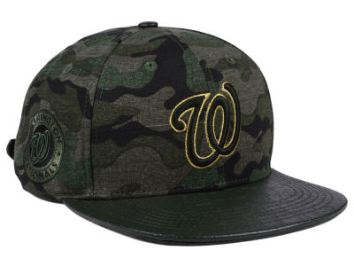 Washington Nationals Pro Standard MLB Camo Gold Strapback Cap