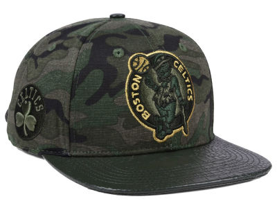 Boston Celtics Pro Standard NBA Camo Gold Strapback Cap