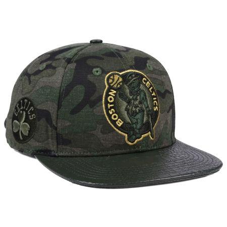 Boston Celtics Pro Standard NBA Camo Gold Strapback Cap