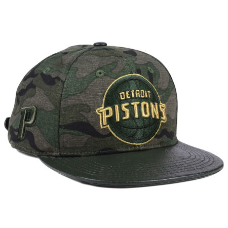 Detroit Pistons Pro Standard NBA Camo Gold Strapback Cap