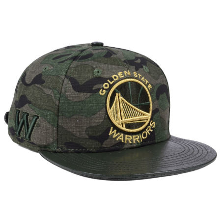 Golden State Warriors Pro Standard NBA Camo Gold Strapback Cap