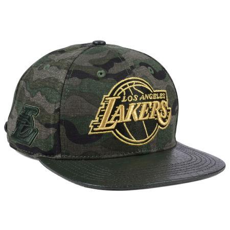 Los Angeles Lakers Pro Standard NBA Camo Gold Strapback Cap