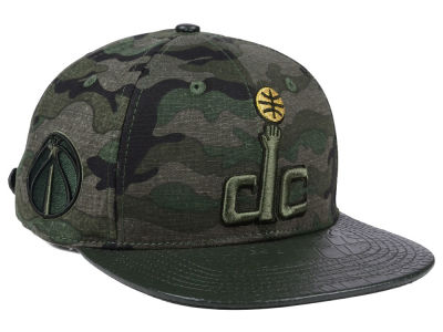 Washington Wizards Pro Standard NBA Camo Gold Strapback Cap