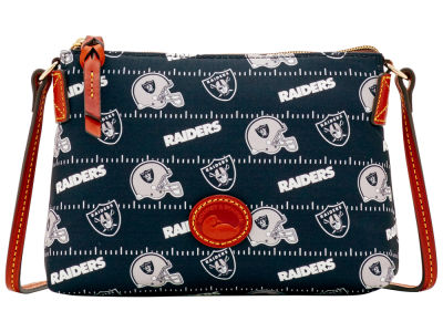 Oakland Raiders Dooney & Bourke Nylon Crossbody Pouchette