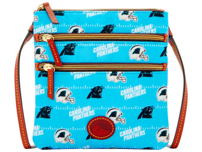 Carolina Panthers Dooney & Bourke Nylon Triple Zip Crossbody