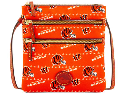 Cincinnati Bengals Dooney & Bourke Nylon Triple Zip Crossbody