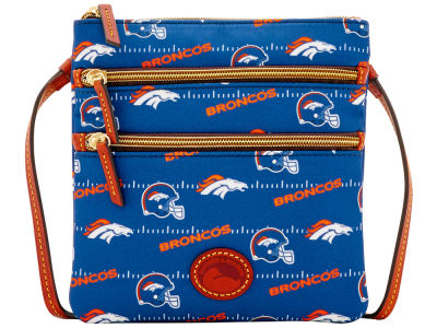 Denver Broncos Dooney & Bourke Nylon Triple Zip Crossbody