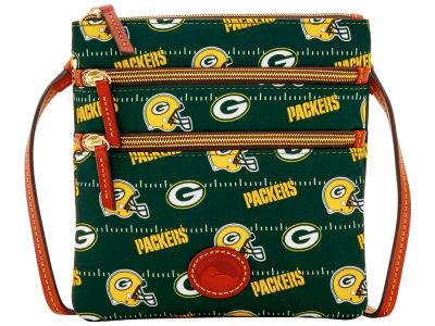 Green Bay Packers Dooney & Bourke Nylon Triple Zip Crossbody