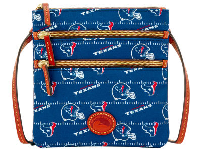 Houston Texans Dooney & Bourke Nylon Triple Zip Crossbody