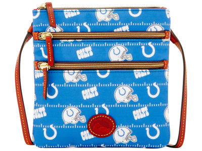 Indianapolis Colts Dooney & Bourke Nylon Triple Zip Crossbody